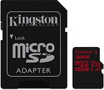 Фото Kingston Canvas React microSDHC UHS-I U3 V30 A1 32Gb