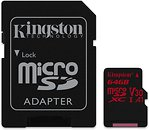 Фото Kingston Canvas React microSDXC UHS-I U3 V30 A1 64Gb