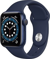 Фото Apple Watch Series 6 GPS 44mm Blue Aluminum Case with Deep Navy Sport Band (M00J3)