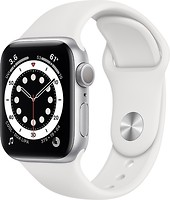 Фото Apple Watch Series 6 GPS 40mm Silver Aluminum Case with White Sport Band (MG283)