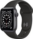 Фото Apple Watch Series 6 GPS 40mm Space Gray Aluminum Case with Black Sport Band (MG133)