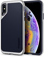 Фото Spigen Case Neo Hybrid for Apple iPhone Xs Satin Silver (SGP063CS24920)