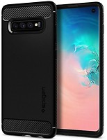 Фото Spigen Case Rugged Armor for Samsung Galaxy S10 SM-G973F Matte Black (SGP605CS25800)