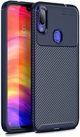 Фото iPaky Carbon Fiber Soft TPU Case Xiaomi Redmi Note 7 Blue
