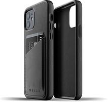 Фото Mujjo Full Leather Wallet чехол на Apple iPhone 12/12 Pro Black (MUJJO-CL-008-BK)
