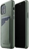Фото Mujjo Full Leather Wallet чехол на Apple iPhone 12/12 Pro Slate Green (MUJJO-CL-008-SG)