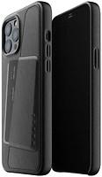 Фото Mujjo Full Leather Wallet чехол на Apple iPhone 12 Pro Max Black (MUJJO-CL-010-BK)