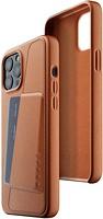 Фото Mujjo Full Leather Wallet чехол на Apple iPhone 12 Pro Max Tan (MUJJO-CL-010-TN)