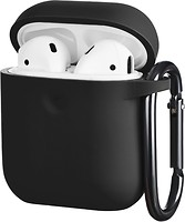 Фото 2E Pure Color Silicone Case 3.0 mm for Apple AirPods Black (2E-AIR-PODS-IBPCS-3-BK)