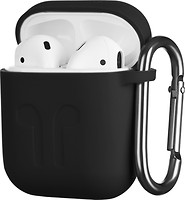 Фото 2E Pure Color Imprint Silicone Case 1.5 mm for Apple AirPods Black (2E-AIR-PODS-IBSI-1.5-BK)