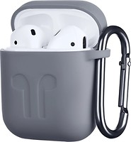 Фото 2E Pure Color Imprint Silicone Case 1.5 mm for Apple AirPods Grey (2E-AIR-PODS-IBSI-1.5-GR)