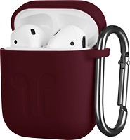 Фото 2E Pure Color Imprint Silicone Case 1.5 mm for Apple AirPods Marsala (2E-AIR-PODS-IBSI-1.5-M)