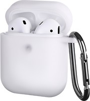 Фото 2E Pure Color Silicone Case 3.0 mm for Apple AirPods Star White (2E-AIR-PODS-IBPCS-3-WT)