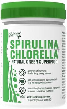 Голден-Фарм Spirulina+Chlorella 200 таблеток