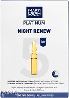 Фото MartiDerm концентрат для лица Platinum Night Renew Anti-Aging Booster 5 x 2 мл