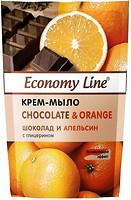 Фото Economy Line жидкое крем-мыло Chocolate & Orange Шоколад и апельсин 460 г