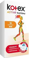 Фото Kotex Active tampony Normal 16 шт
