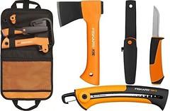 Фото Fiskars Camping set топор X5XXS + пила + нож + сумка (1025439)