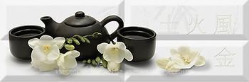 Фото Absolut Keramika декор-панно Japan Tea Composicion 04 20x60 (комплект 4 шт)