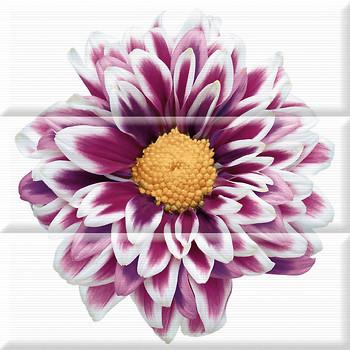 Фото Absolut Keramika декор-панно Flower Composicion 45x45 (комплект 3 шт)