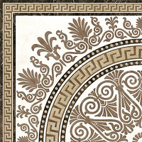Фото Golden Tile декор Meander Rosette бежевый 40x40 (2А1810)