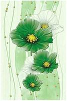 Фото Golden Tile декор Маргарита зеленый 20x30 (Б84391)