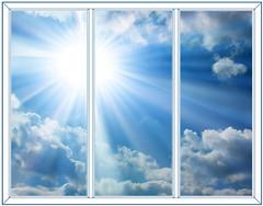 Фото Балконная рама (остекленная) Rehau 2500х1400 3-ств. (пов.-отк.) 2-кам.