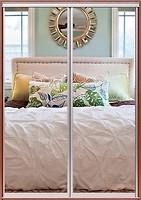 Фото Домовой Шкаф-купе двухдверный Стандарт Зеркало+Зеркало 130x60x240