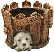 Фото Славянский Сувенир Кадка со щенком (4.126)