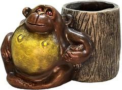 Фото Славянский Сувенир Орангутанг с пеньком (8.150)