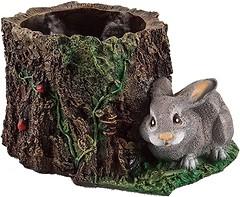 Фото Славянский Сувенир Пенек с зайцем (4.130)