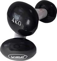 Фото LiveUp Vinyl Dumbbell Egg Head-2x4 kg Black (LS2001-4)