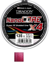 Фото Dragon NanoCORE X4 Red (0.14mm 135m 12.7kg)