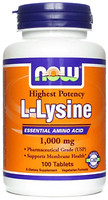 Фото Now Foods L-Lysine 1000 mg 100 таблеток