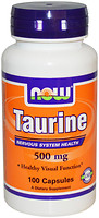 Фото Now Foods Taurine 500 mg 100 капсул