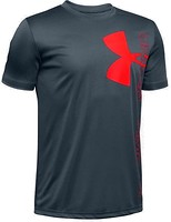 Фото Under Armour Футболка Split Logo Hybrid Short Sleeve-GRN (1346065)