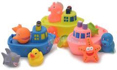 Фото Baby Team Набор игрушек для ванны Корабль друзей (9000)
