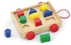 Фото Viga Toys Тележка с блоками (58583)