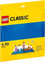 Фото LEGO Classic Строительная пластина синего цвета (10714)