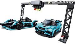 Фото LEGO Speed Champions Formula E Panasonic Jaguar Racing GEN2 car & Jaguar I-PACE eTROPHY (76898)