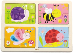 Фото Viga Toys Насекомые 4в1 (50189)