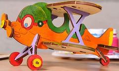 Фото Ugears 3D модель-разрисовка Биплан (30002)