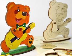 Фото Ugears 3D модель-разрисовка Медвежонок (10002)