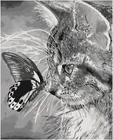 Фото Идейка Котенок и бабочка (KHO2499)