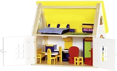 Фото Goki Кукольный домик с мебелью (51742)