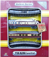 Фото Fenfa стартовый набор: паровоз с вагоном (1601B-5B)