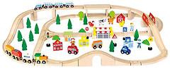 Фото Viga Toys большая железнодорожная станция (50998)