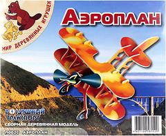Фото Мир деревянных игрушек Аэроплан (П002с)