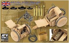 Фото AFV-Club British Rota trailer w/ 2 Pounder Ammunition set (AF35264)