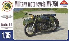 Фото AIM Fan Model Советский мотоцикл МВ-750 с коляской (AIM35003)